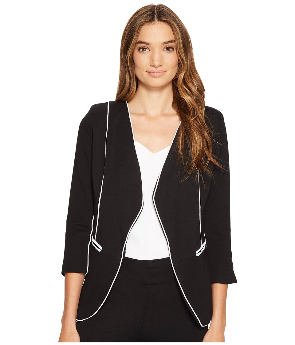 XOXO - Contrast Piped Jacket (Black) Women's Coat