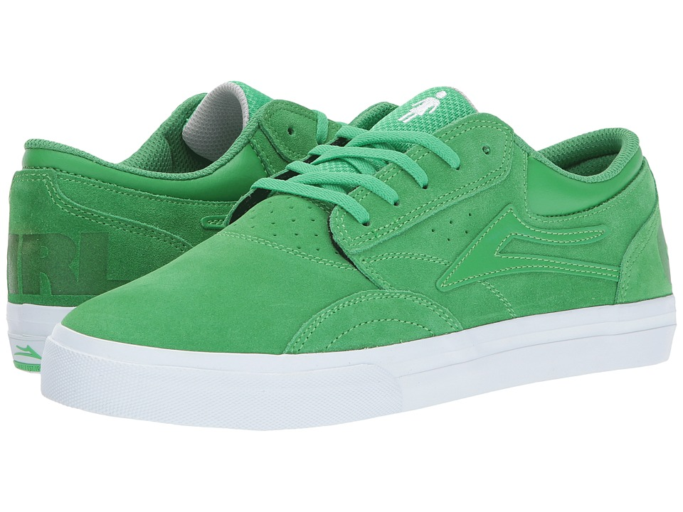 Lakai - Griffin X Girl Skateboards (Green Suede) Men's Skate Shoes