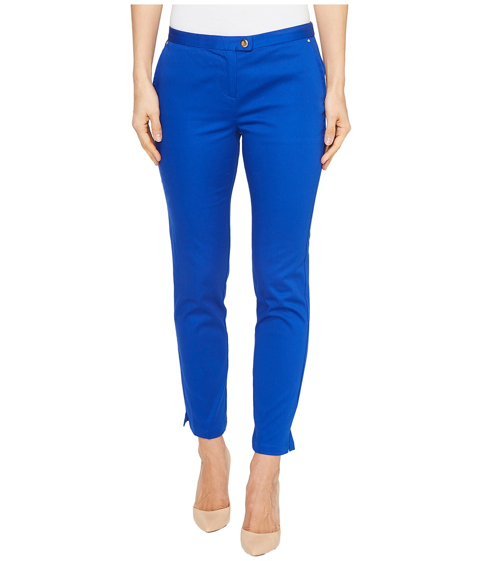 XOXO - Natalie Cropped Side Slit Pants (Cobalt 8) Women's Casual Pants