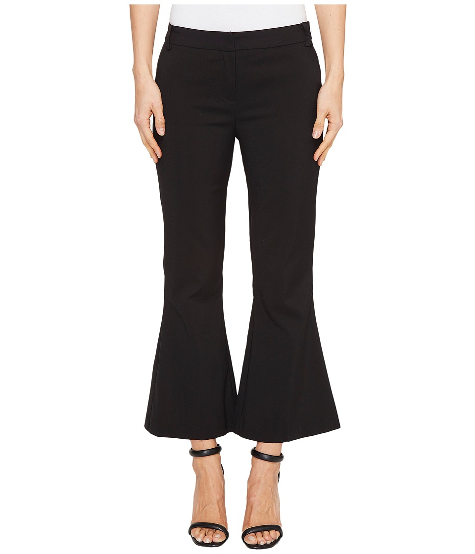 XOXO - Natalie Cropped Kick Flaire Pants (Black 8) Women's Casual Pants