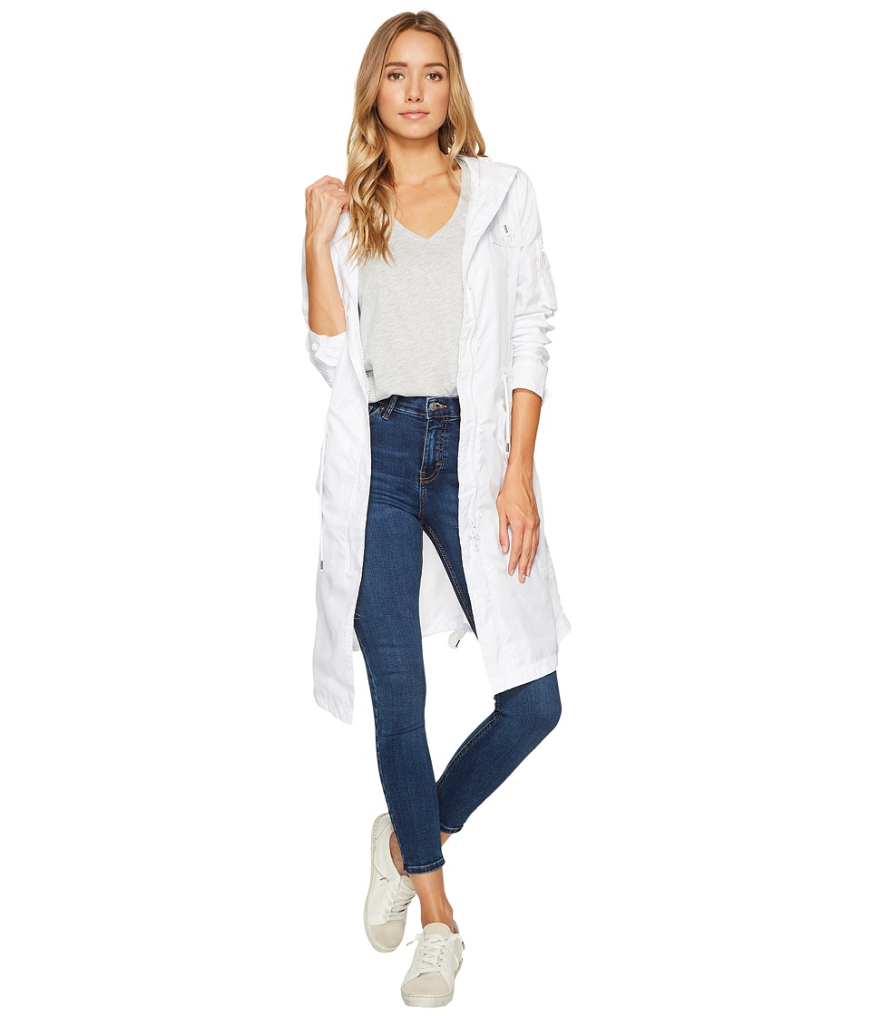 Members Only - Parachute Parka (White) Women's Coat