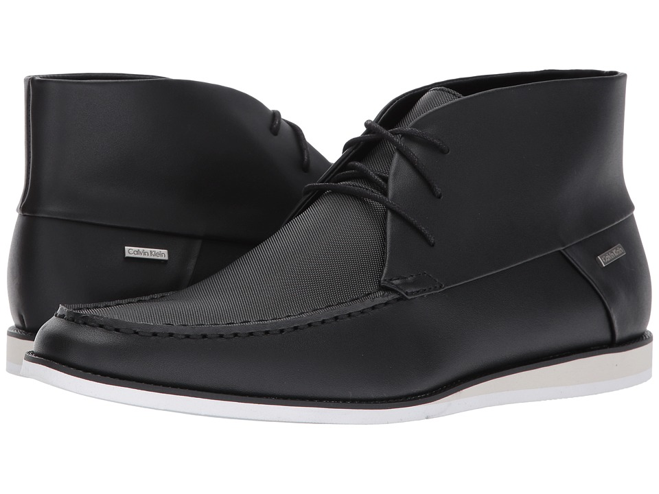 Calvin Klein - Kenley (Black Brushed Leather) Men's Shoes