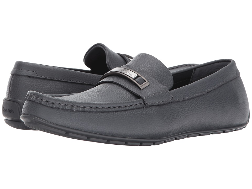Calvin Klein - Irving (Grey Tumbled Leather) Men's Shoes