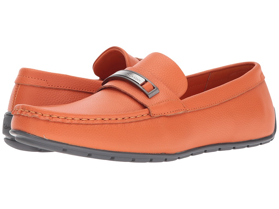 Calvin Klein - Irving (Safety Orange Tumbled Leather) Men's Shoes