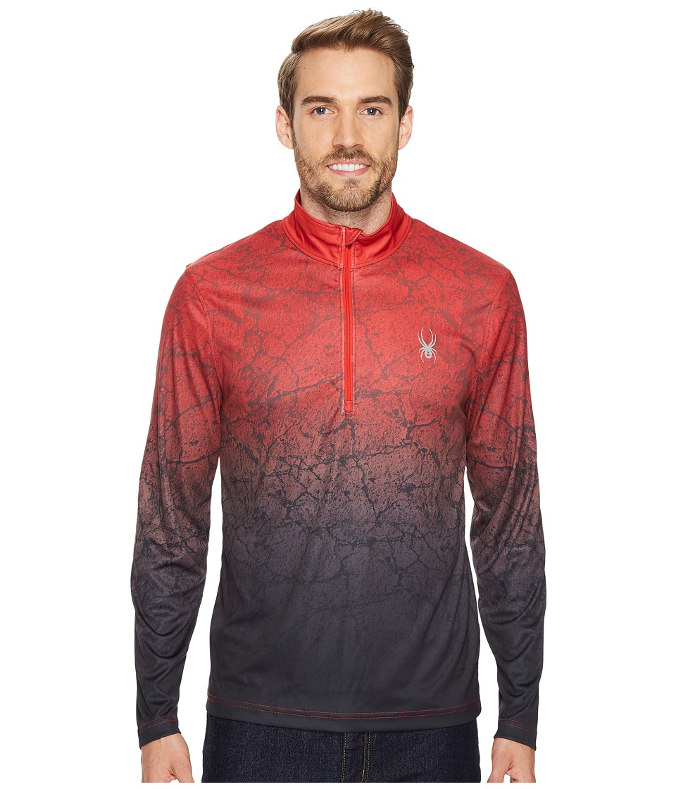 Spyder Limitless 1/4 Zip Dry Web (Red/Crackle) Men's Long Sleeve Pullover