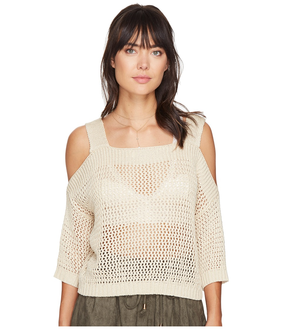 Bishop + Young - Cold Shoulder Sweater (Sand) Women's Sweater