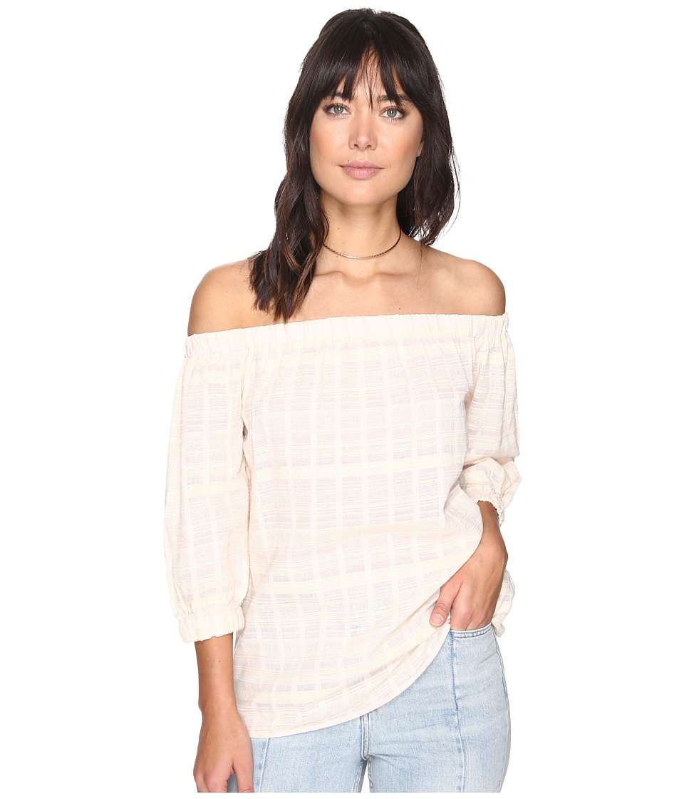 Bishop + Young - Karlee Off the Shoulder Top (Pink Stripe) Women's Clothing