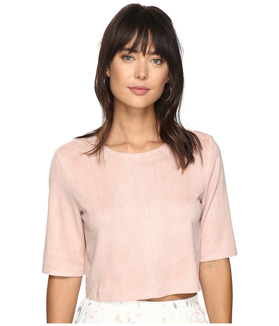 Bishop + Young - Suede Crop (Pink) Women's Clothing