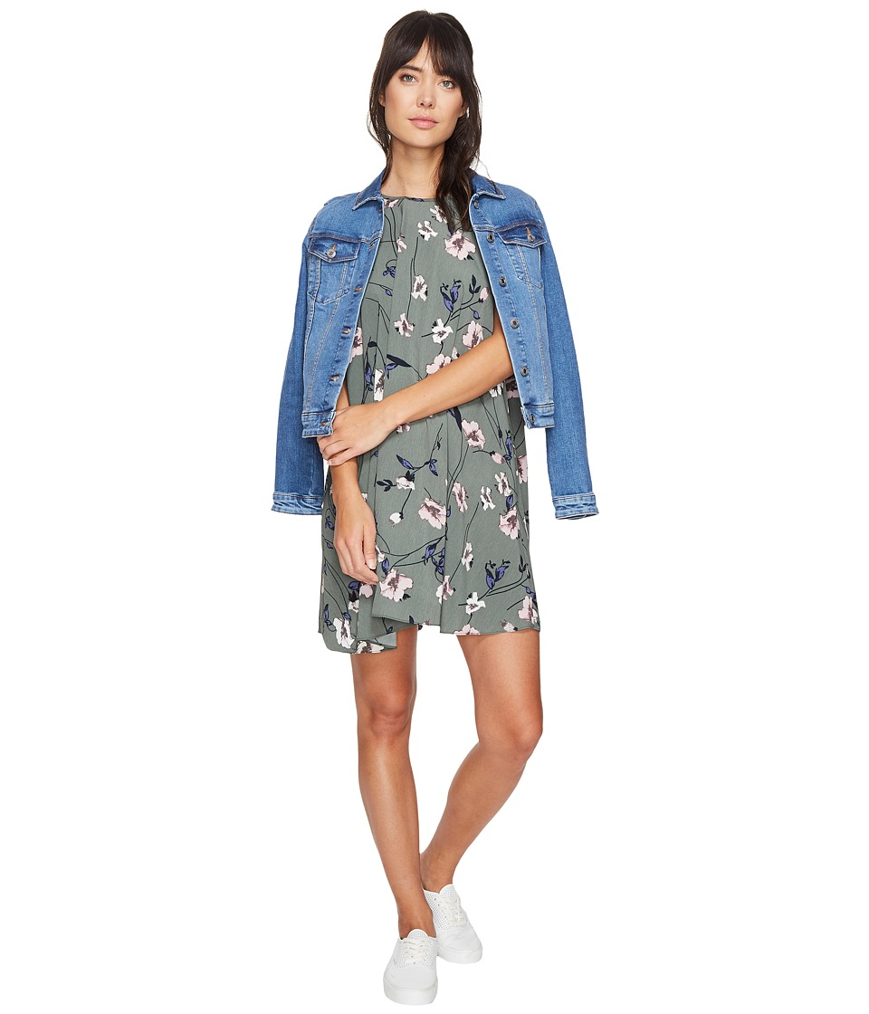 Bishop + Young - Printed High Neck Shift (Print) Women's Dress