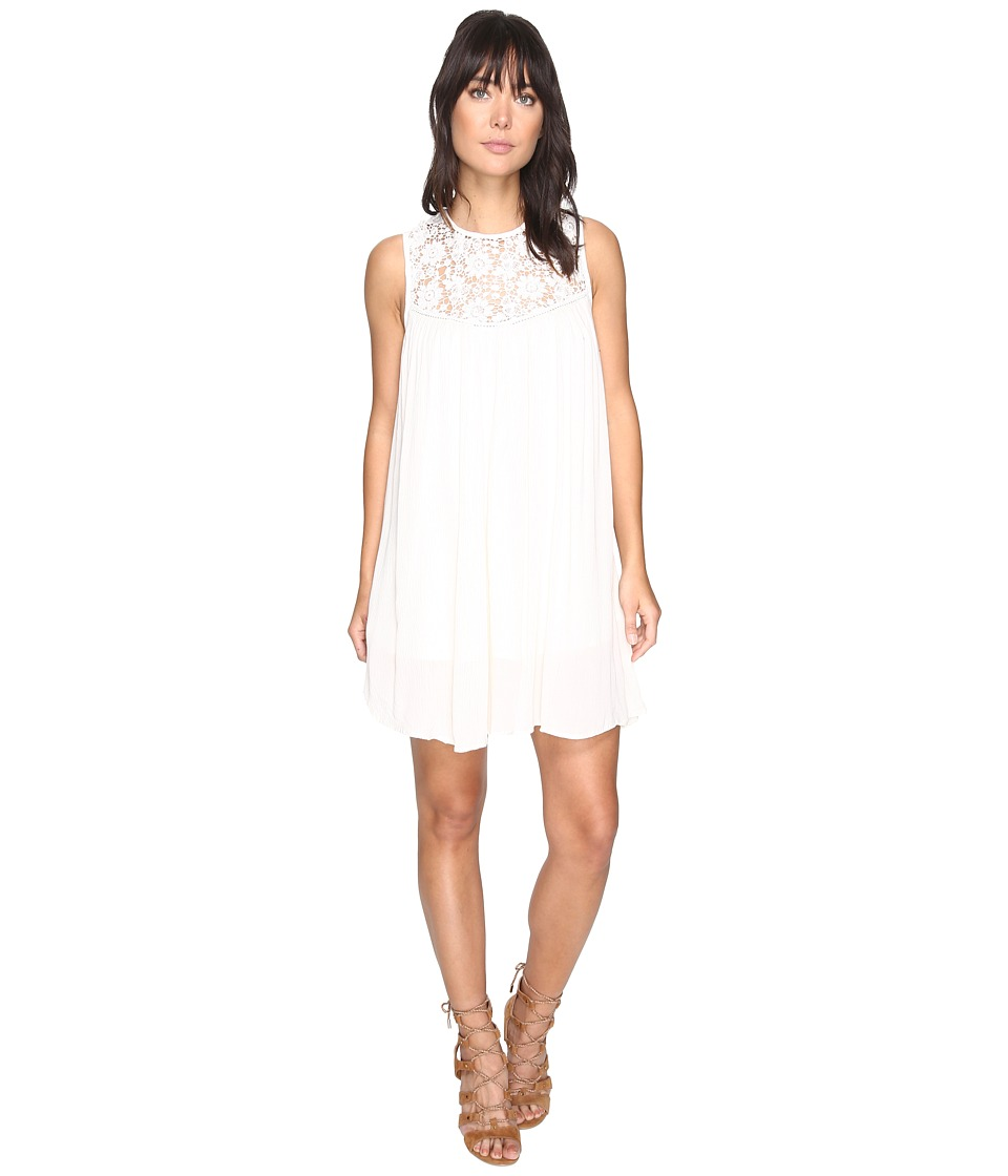 Bishop + Young - Crochet High Neck Shift (Ivory) Women's Dress