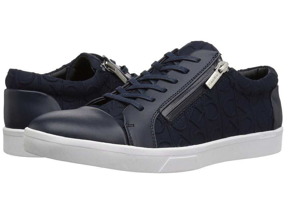 Calvin Klein - Ibrahim (Dark Navy Brushed Leather) Men's Shoes
