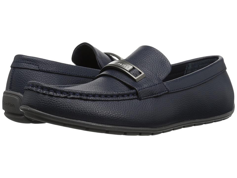 Calvin Klein Irving (Dark Navy Tumbled Leather) Men