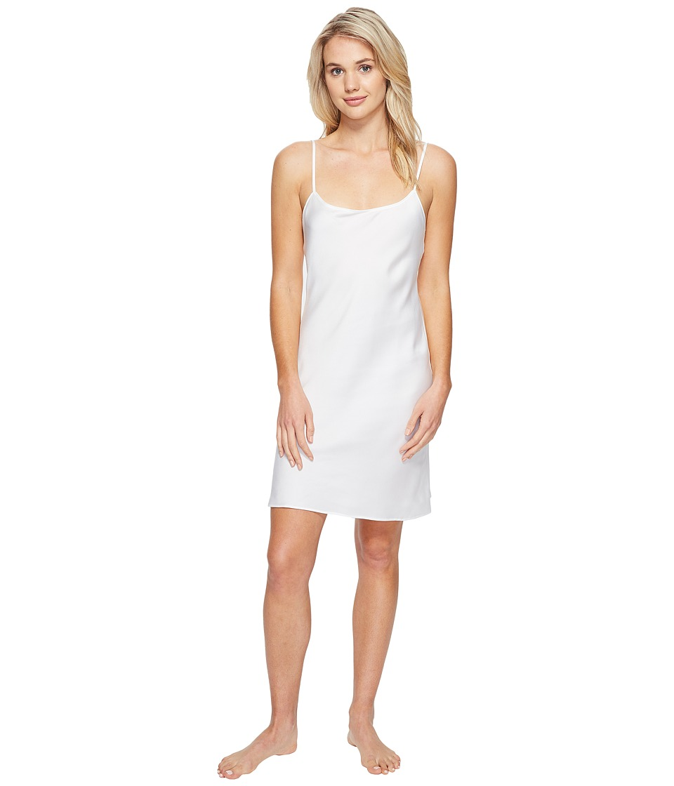 Natori - Feathers Satin Chemise (Warm White) Women's Pajama