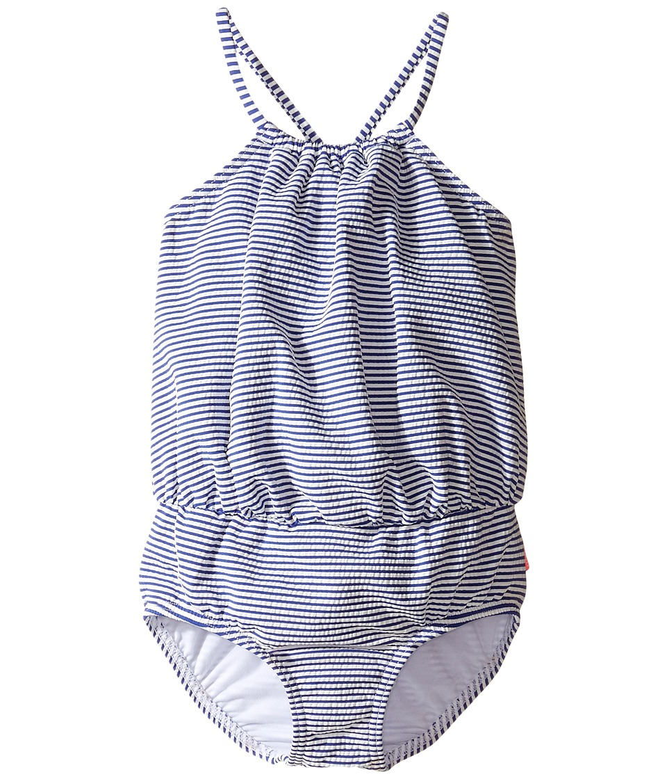 Seafolly Kids - Cute D'Azure Blouson Tank One-Piece (Toddler/Little Kids) (Indigo) Girl's Swimsuits One Piece