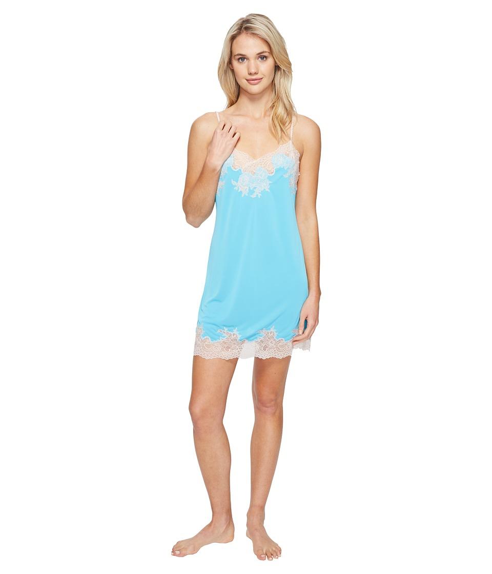 Natori - Enchant Lace Trim Chemise (Blue Breeze) Women's Pajama