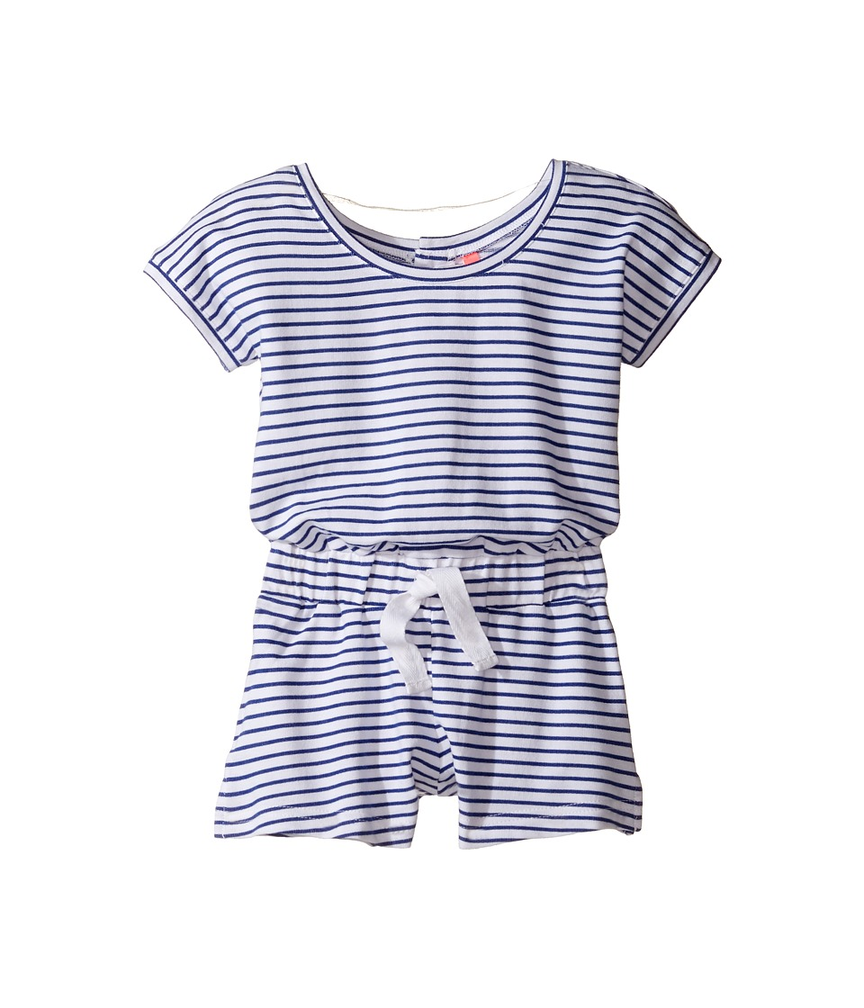 Seafolly Kids - Cute D'Azure Playsuit (Toddler/Little Kids) (Indigo/White) Girl's Swimsuits One Piece