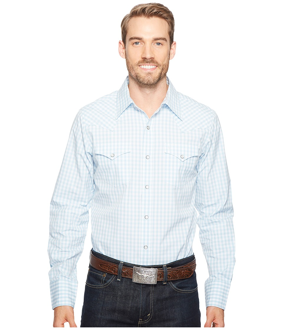 Stetson - 0887 Shadow Check (Blue) Men's Clothing