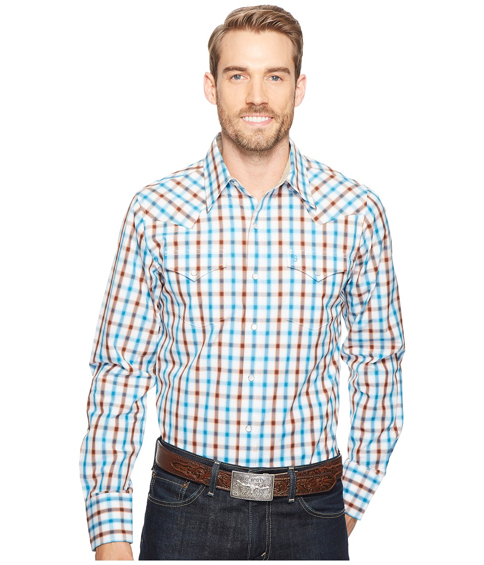Stetson - 1149 Teal Ombre Check (Grey) Men's Clothing