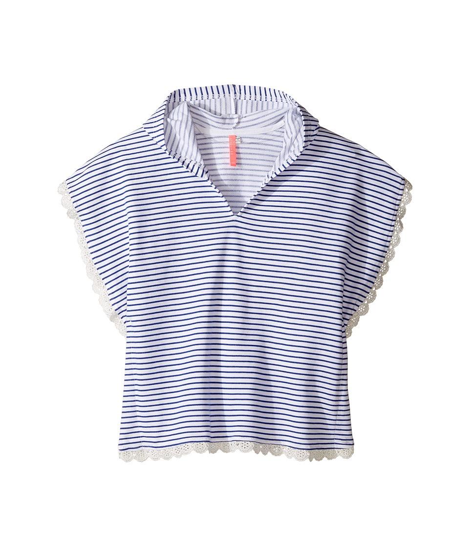 Seafolly Kids - Cute D'Azure Kaftan (Infant/Toddler/Little Kids) (Indigo/White) Girl's Swimwear