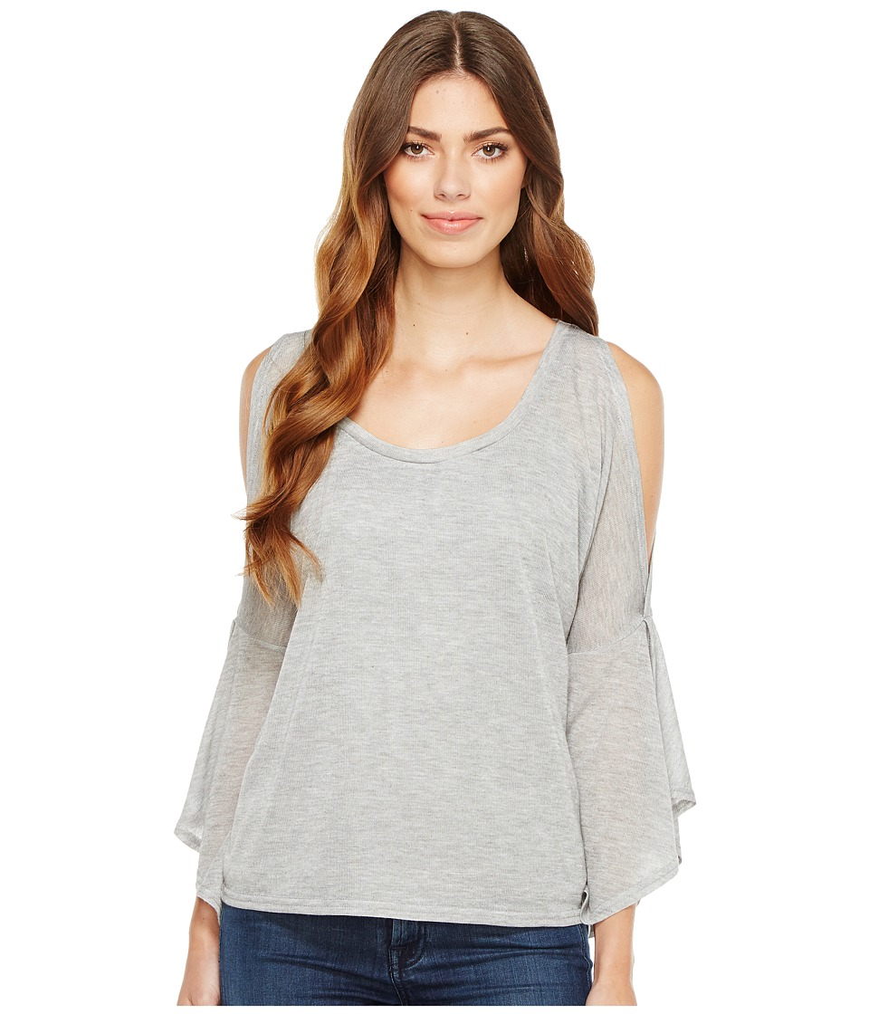 Stetson - 1054 Heather Grey Slubby Sweater Jersey (Grey) Women's Sweater