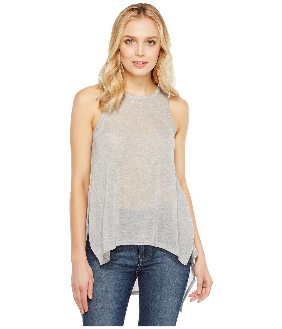 Stetson - 1054 Heather Grey Slubby Sweater Jersey (Grey) Women's Sweater