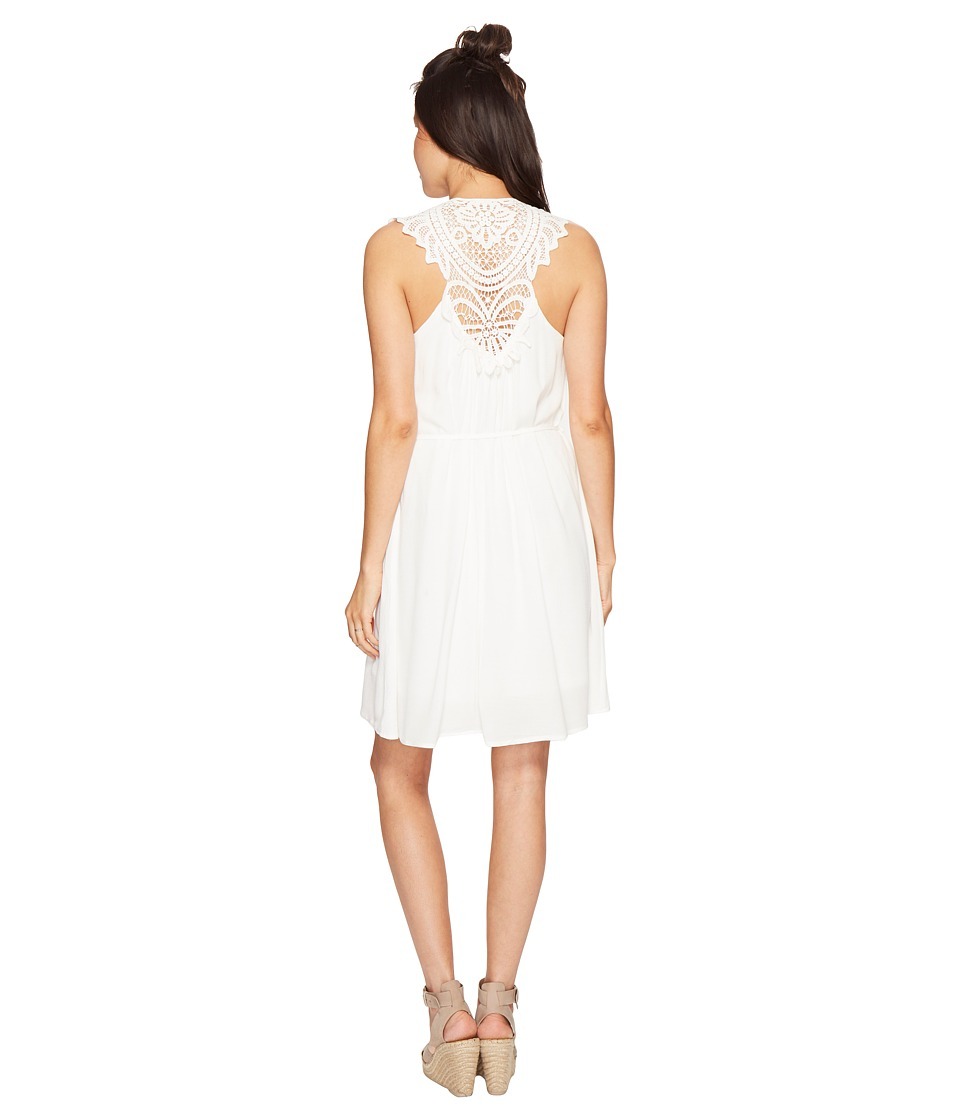 Bishop + Young - Crochet Detail Dress (White) Women's Dress