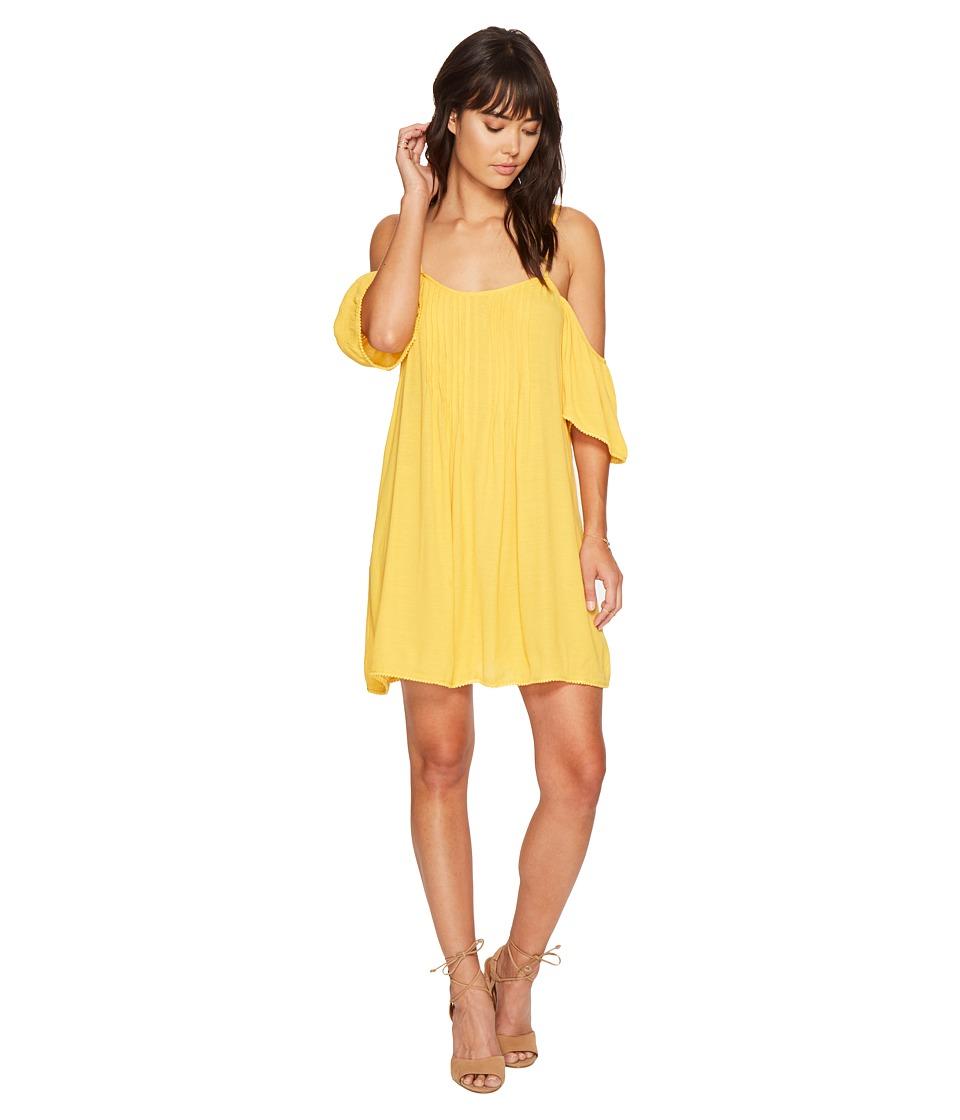 Bishop + Young - Cold Shoulder Dress (Mustard) Women's Dress