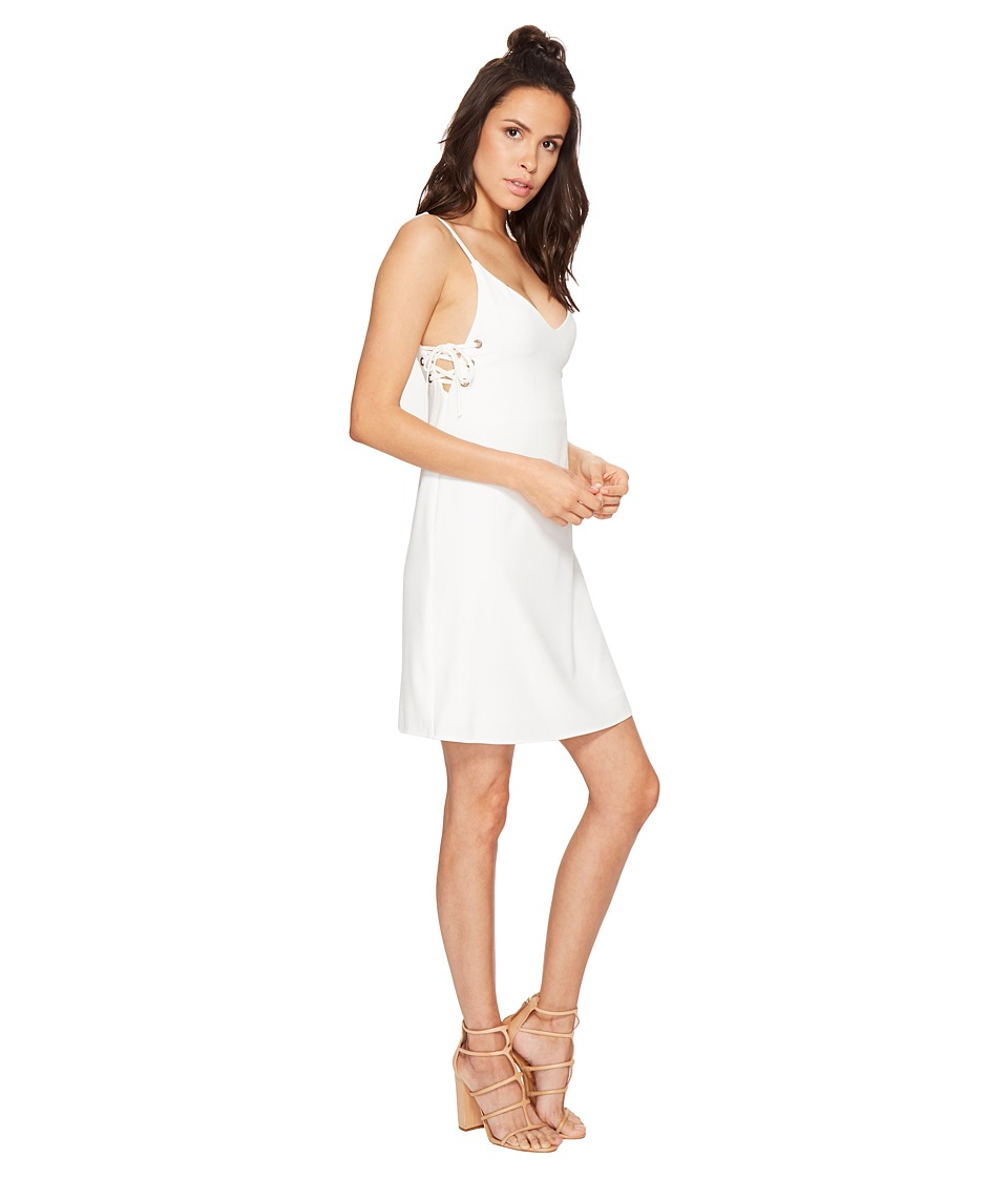 Bishop + Young - Ana Lace-Up Dress (White) Women's Dress