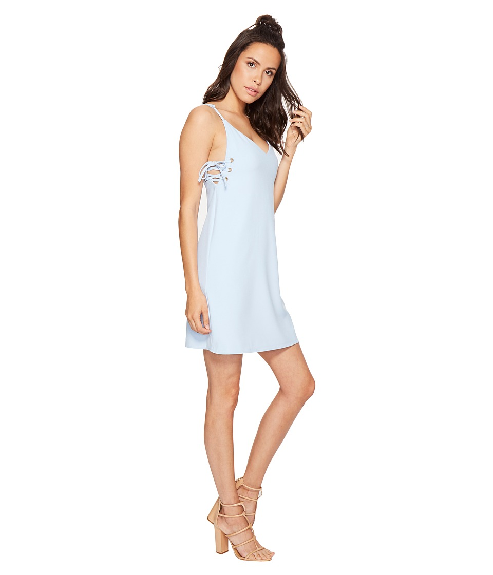 Bishop + Young - Ana Lace-Up Dress (Blue) Women's Dress