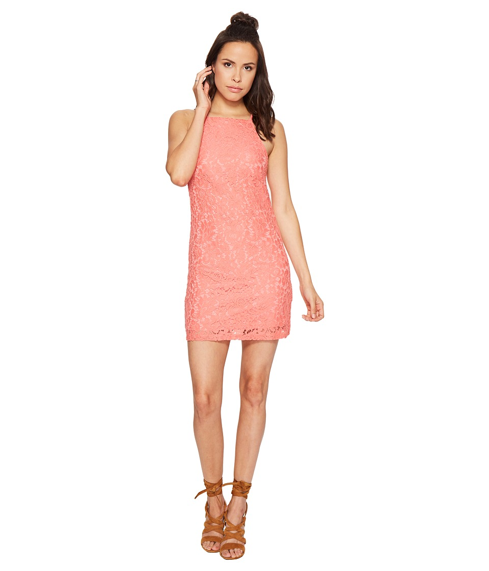 Bishop + Young - Romantic Lace Dress (Coral) Women's Dress