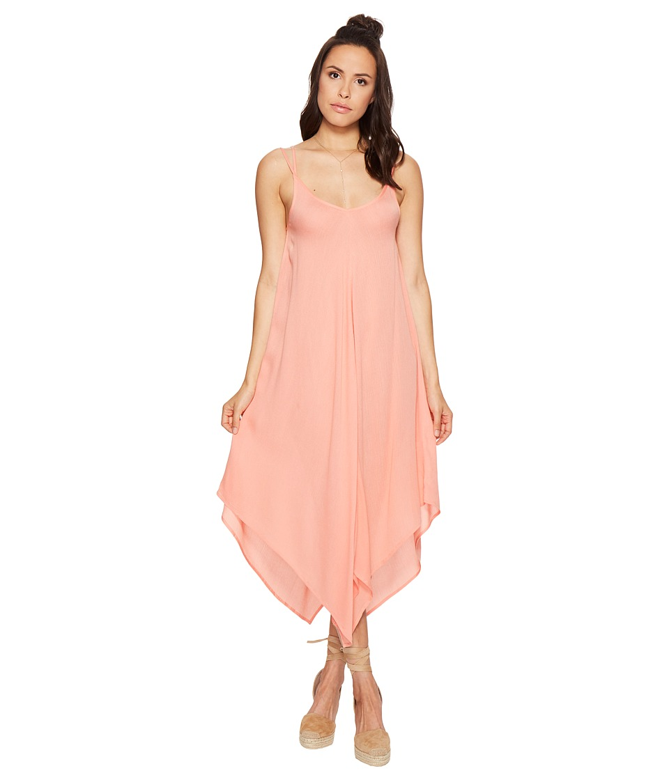 Bishop + Young - Hanky Hem Dress (Coral) Women's Dress