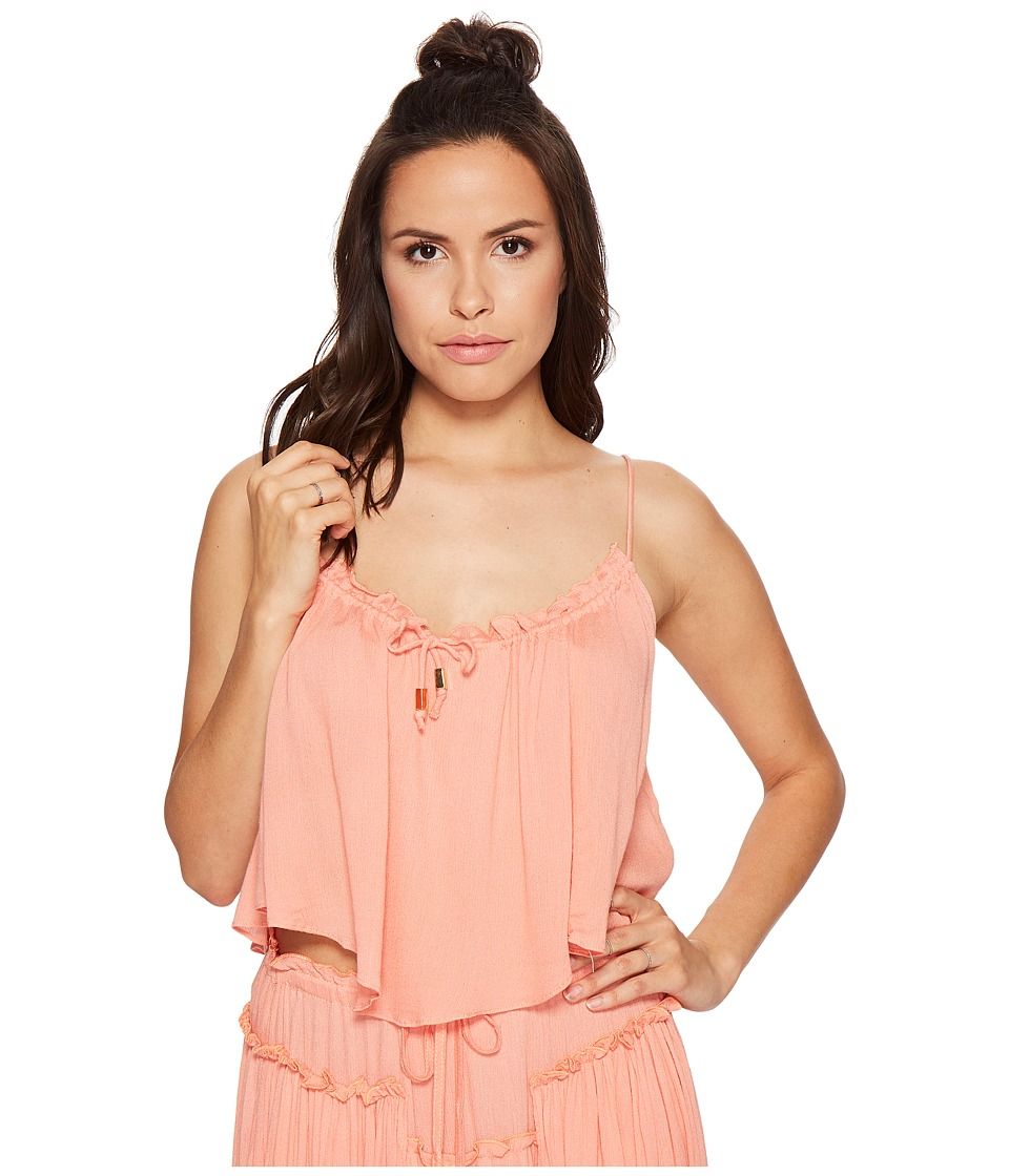 Bishop + Young - Coastal Crop Top (Coral) Women's Clothing