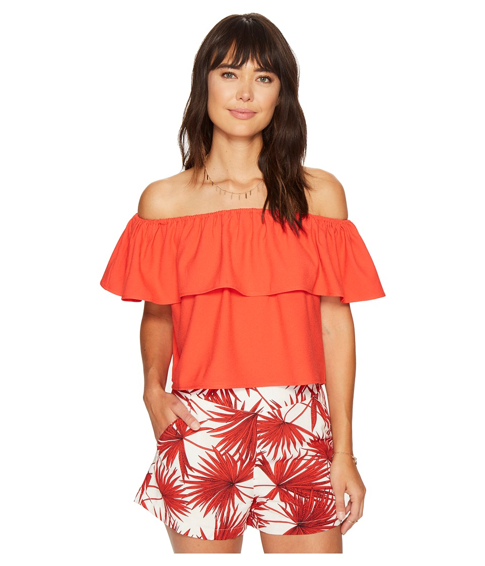 Bishop + Young - Off Shoulder Top (Red) Women's Clothing
