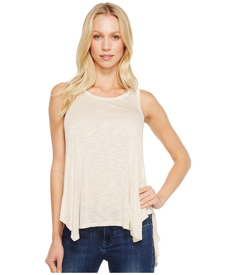 Stetson - 1060 Slub Jersey Knit Hi-Lo Tank Top (White) Women's Sleeveless