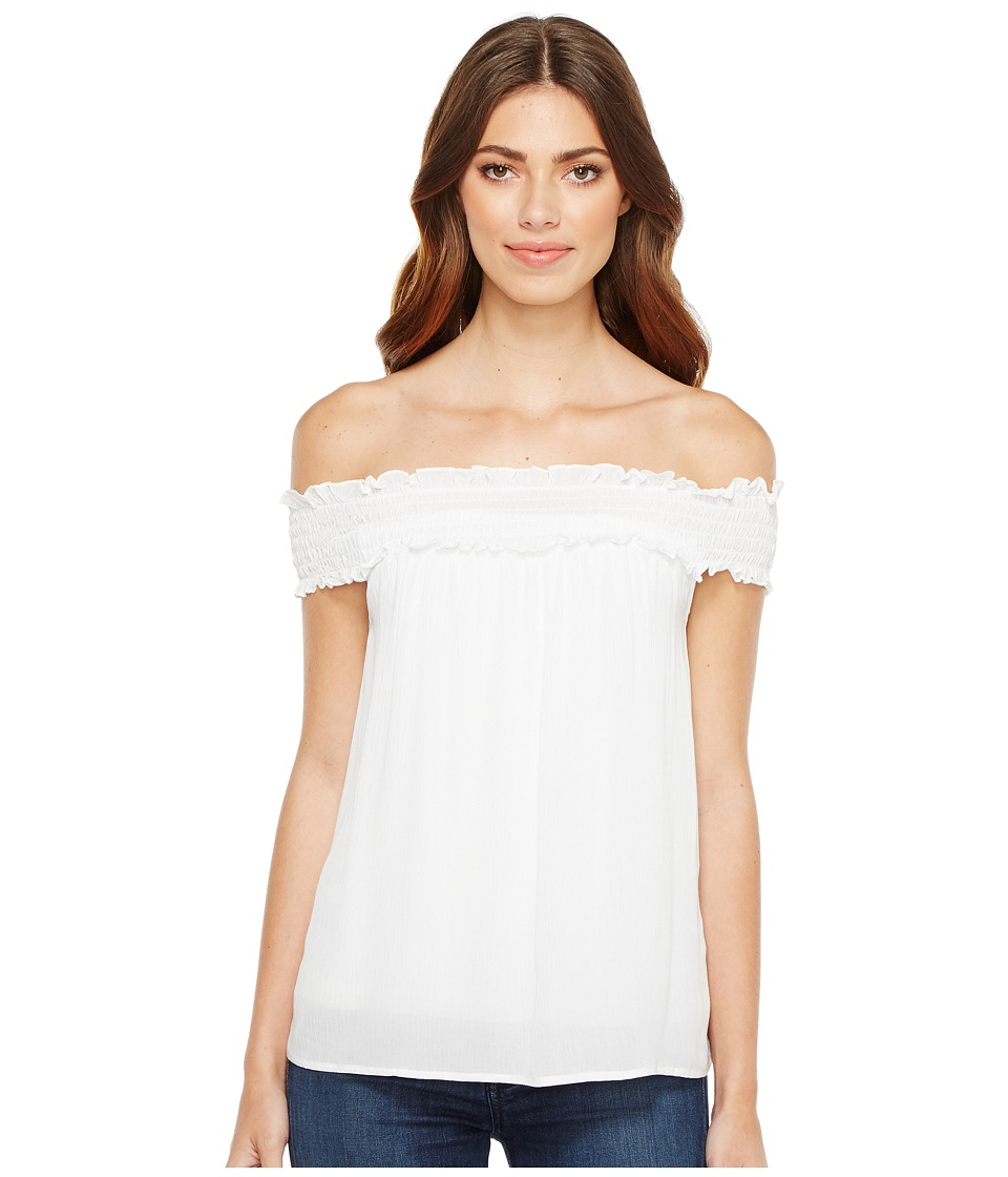 Stetson - 1056 Crepe Off the Shoulder Top (White) Women's Clothing