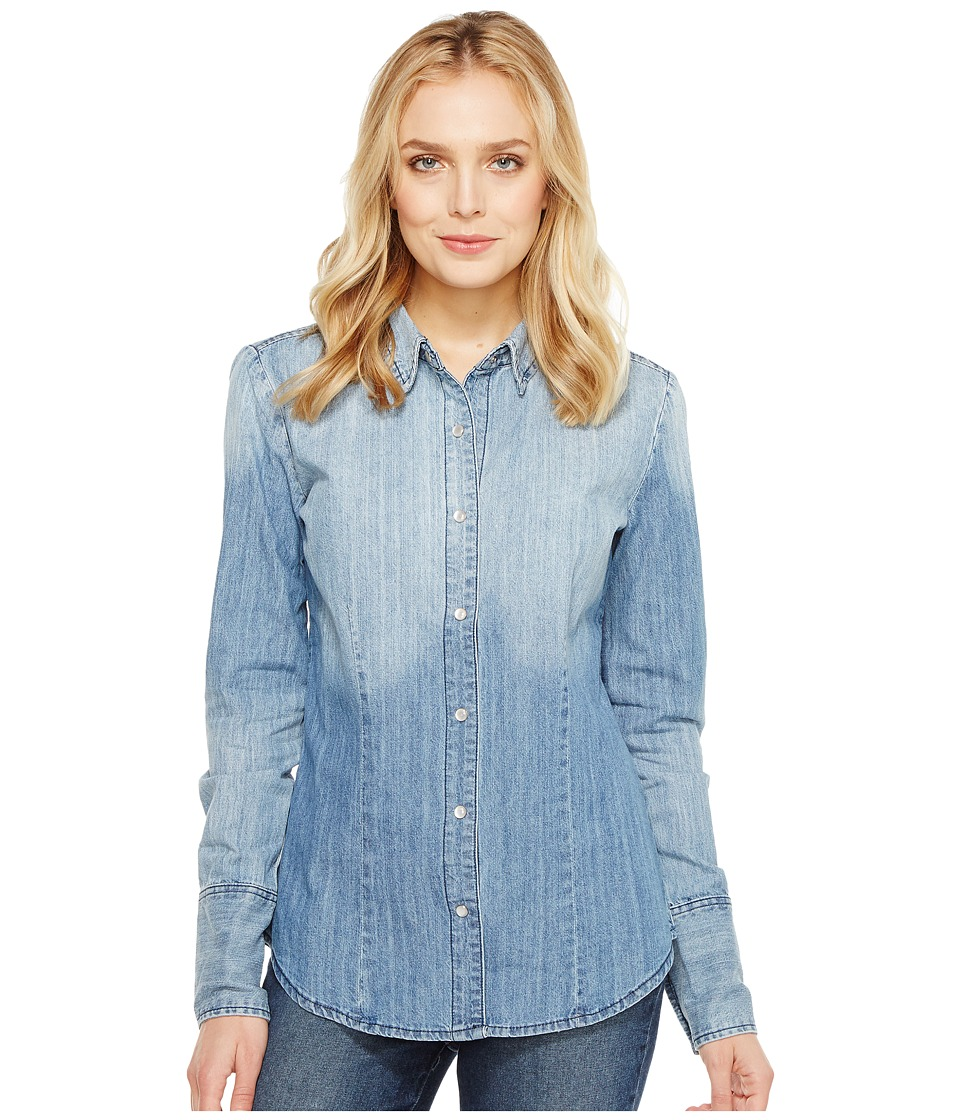 Stetson - Ombre Washed Denim Western Shirt (Blue) Women's Clothing