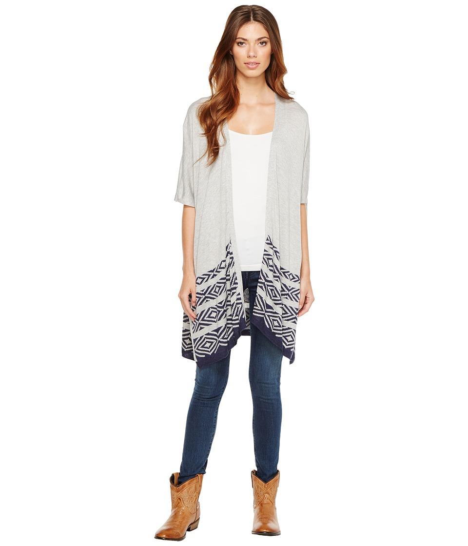 Stetson - 1166 Heather Grey Slub Sweater Knit (Grey) Women's Sweater