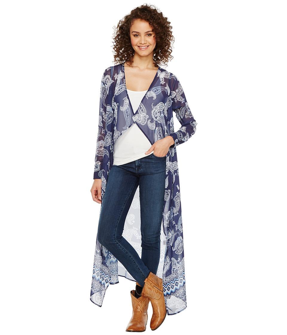 Stetson - Romper Paisley Aztec Print (Blue) Women's Clothing