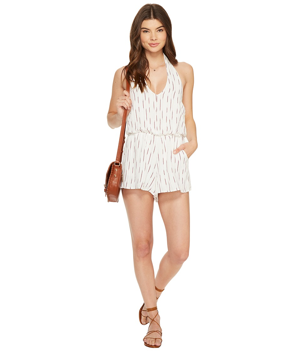 Bishop + Young - Halter Romper (Red/White Stripe) Women's Jumpsuit & Rompers One Piece