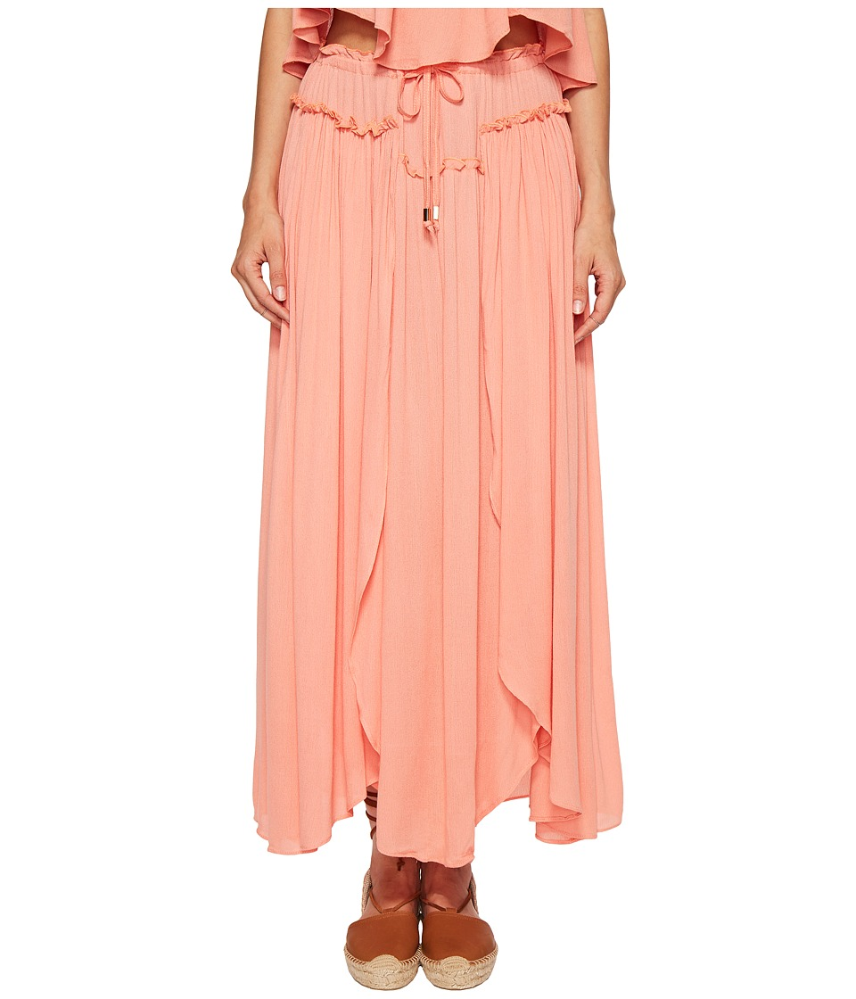 Bishop + Young - Front Slit Maxi (Coral) Women's Dress