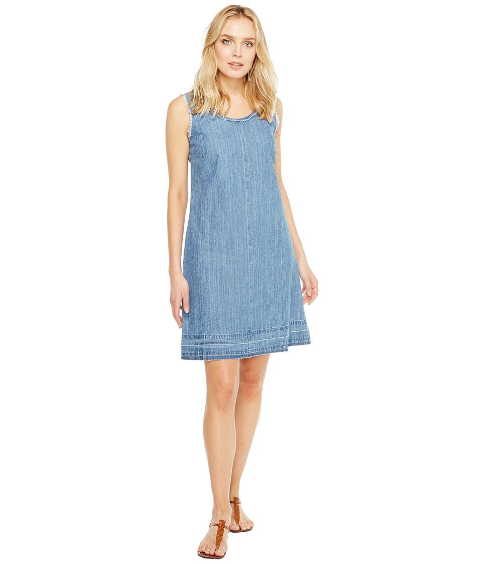 Stetson - Sleeveless Raw Edge Denim Dress (Blue) Women's Dress
