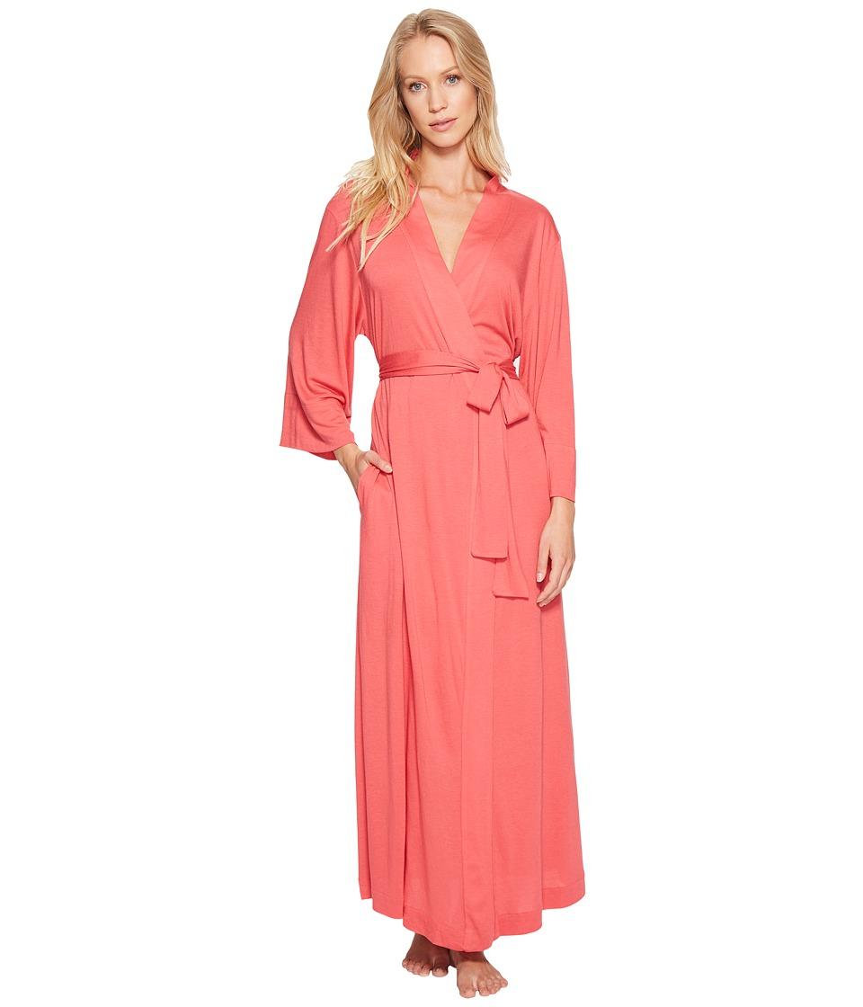 Natori - Shangri-La Robe (Cherry Pink) Women's Robe