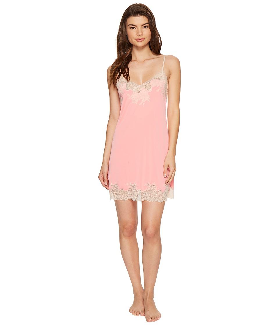 Natori - Enchant Lace Trim Chemise (Pink Cantalope) Women's Pajama