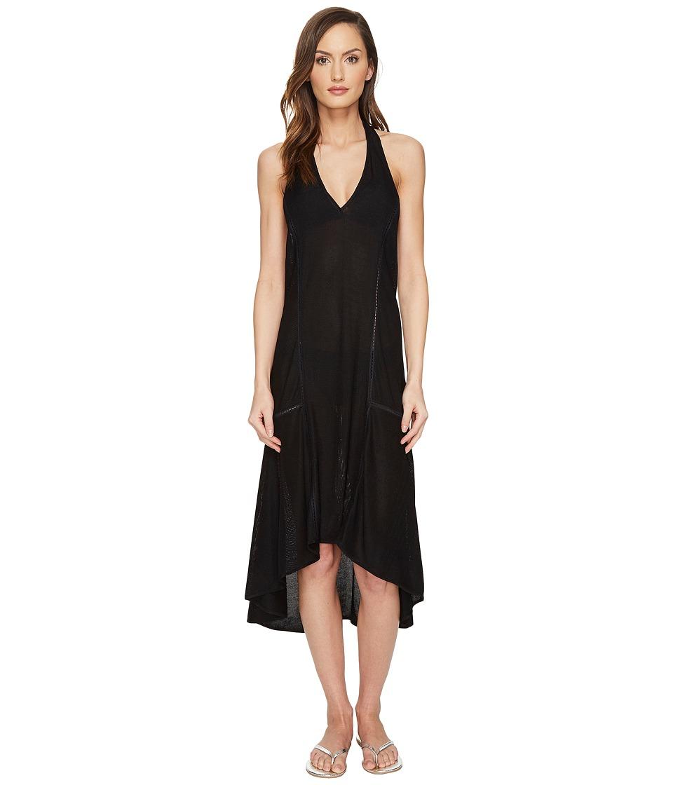 Jonathan Simkhai Lace Racerback Flare Dress Cover-Up (Black) Women