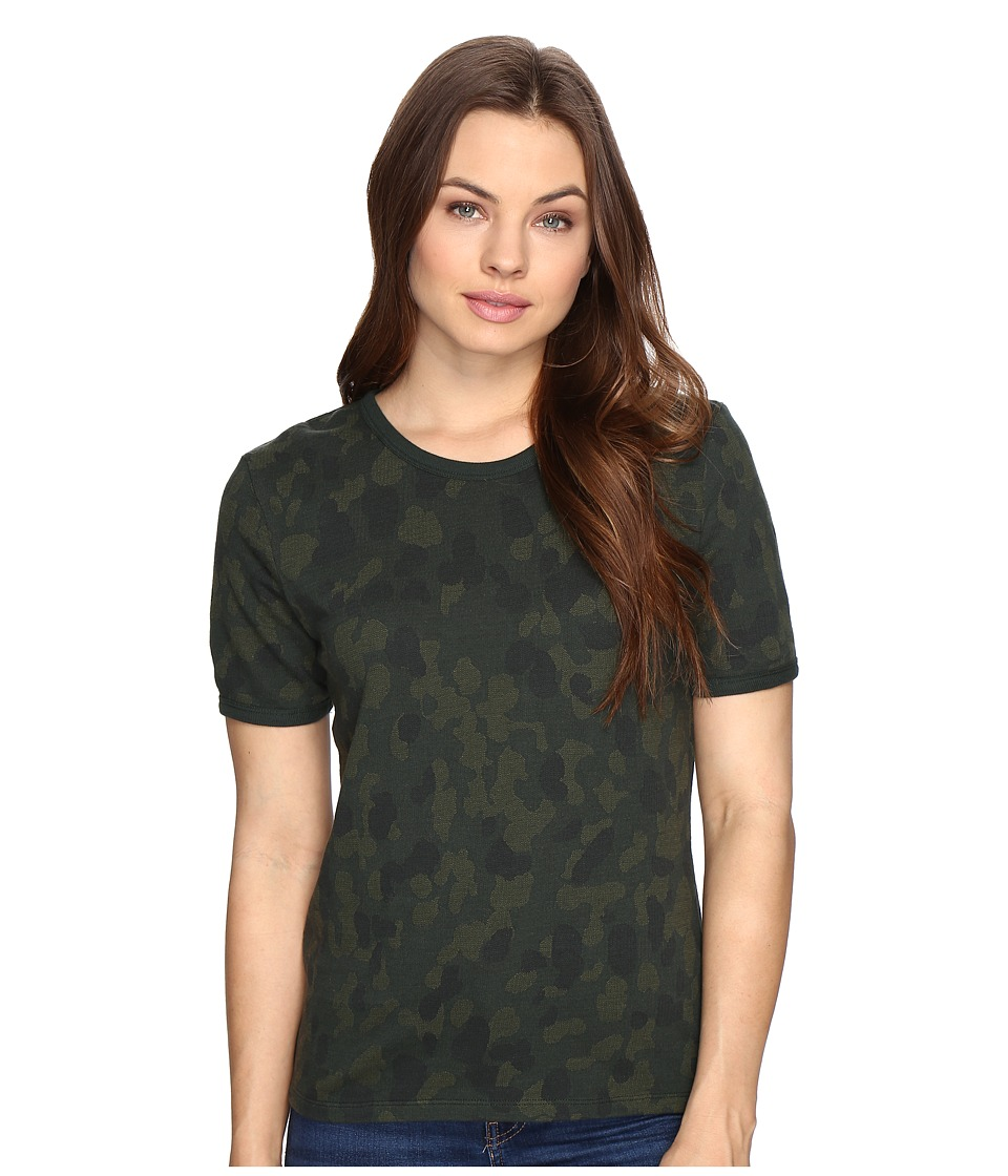 Obey - Fillmore Ringer Top (Army Multi) Women's T Shirt