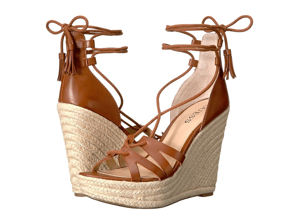GUESS - Ollina (Dark Brown) Women's Wedge Shoes