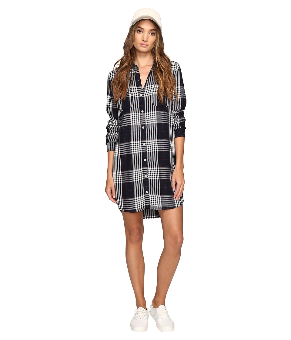 Obey - Chelsea Shirtdress (Navy Multi) Women's Dress