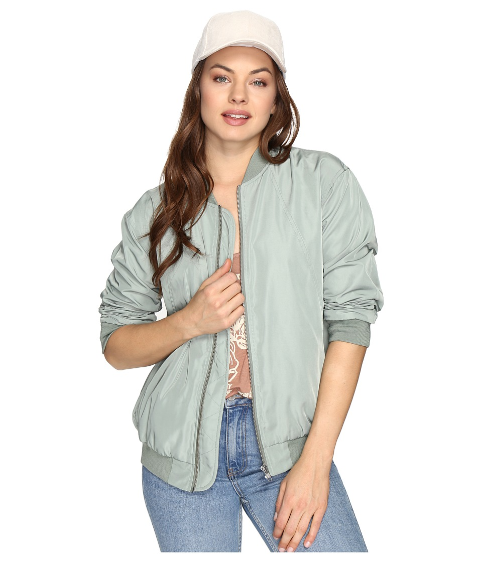 Obey - Mako Bomber Jacket (Sage) Women's Coat