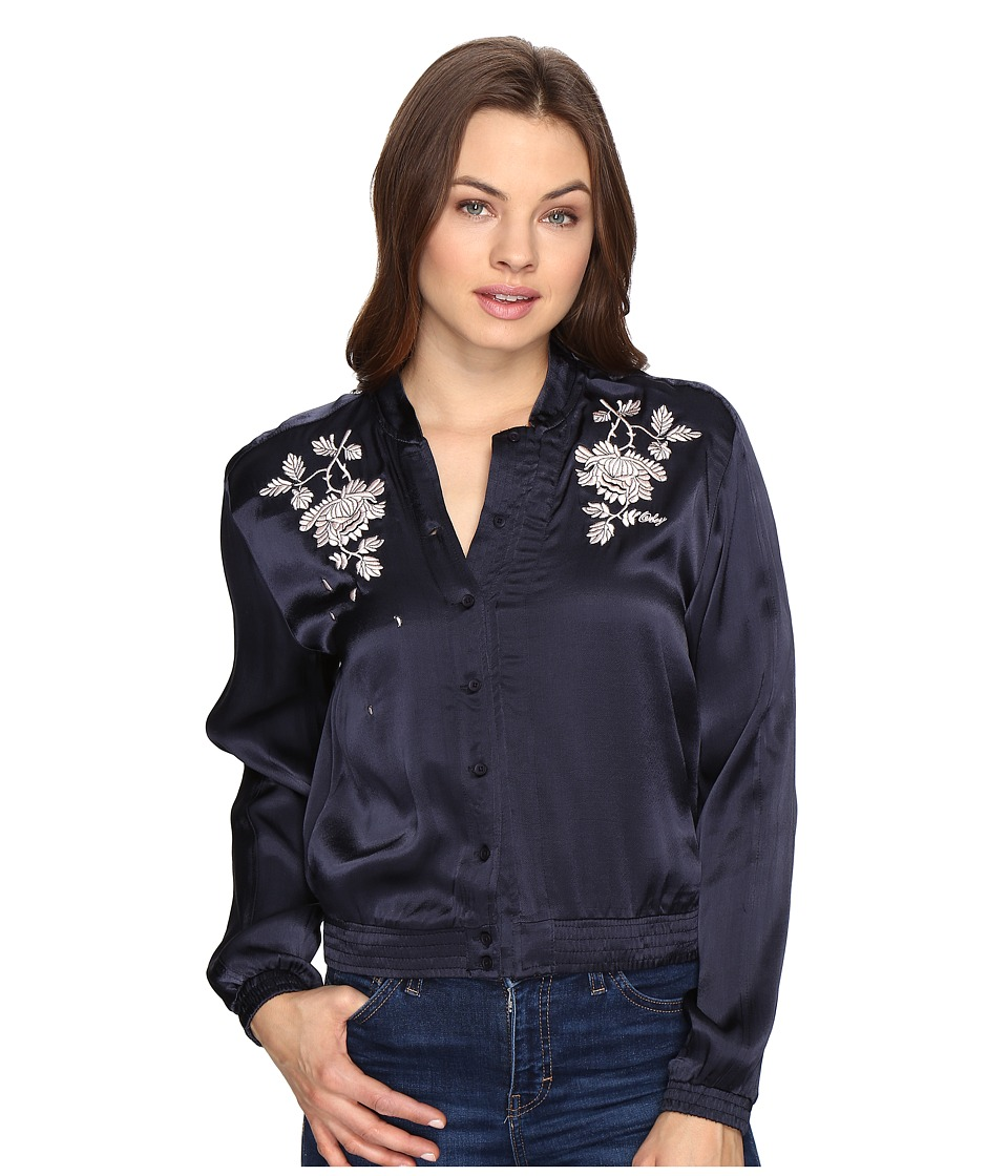 Obey - Ty Bomber Jacket (Navy) Women's Coat