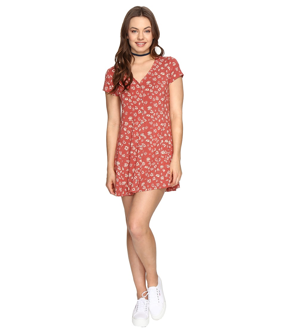 Obey - Bella Dress (Rust Multi) Women's Dress
